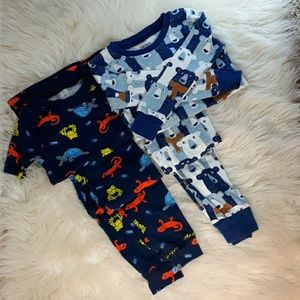 Carter's pajamas long and short sleeve size 4T